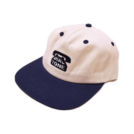 DIAL TONE【 ダイヤルトーン】DIAL STRAPBACK CAP  CREAM NAVY  キャップ クリーム ネイビー 帽子