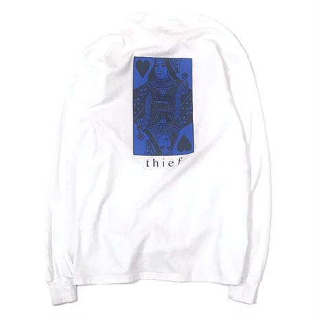 LUCKYWOOD【 ラッキーウッド】 Thief L/S TEE White ロンT ホワイト
