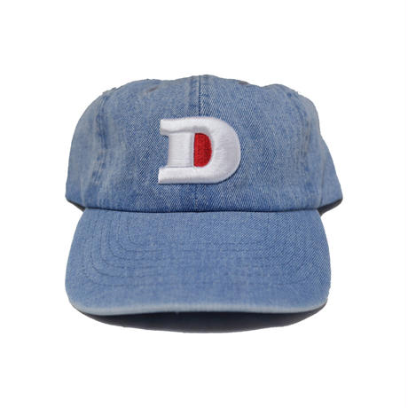 LUCKYWOOD【 ラッキーウッド】D LOGO DENIM CAP キャップ デニムウォッシュ
