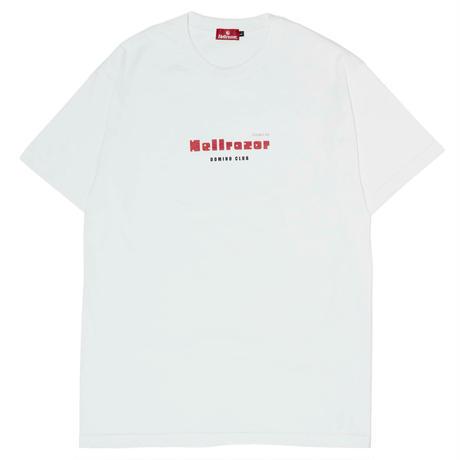 HELLRAZOR【 ヘルレイザー】DOMINO CLUB SHIRT WHITE  Tシャツ ホワイト