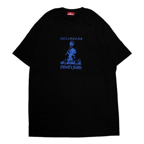 HELLRAZOR【 ヘルレイザー】DEVIL'S FAITH SHIRT BLACK  Tシャツ ブラック