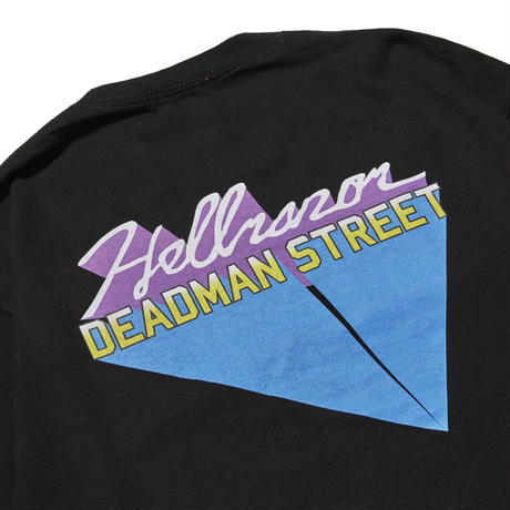 HELLRAZOR【 ヘルレイザー】DEAD MAN STREET LONG SLEEVE SHIRT ロンT ブラック