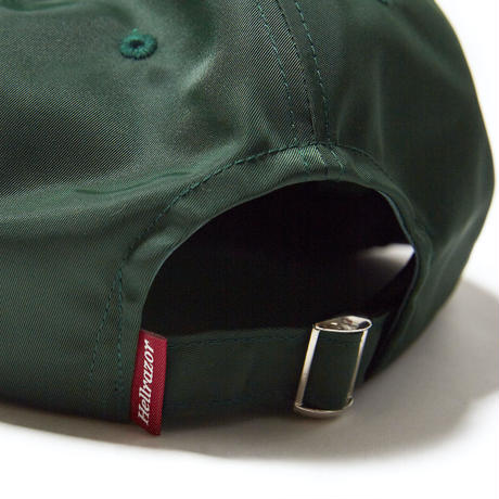 HELLRAZOR【 ヘルレイザー】TRADEMARK LOGO NYLON 6PANEL GREEN キャップ グリーン