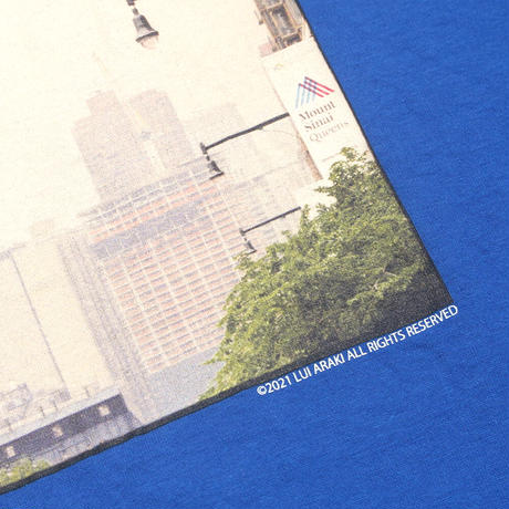 "HELLRAZOR【 ヘルレイザー】HELLRAZOR x LUI ARAKI PHOTO SHIRT ""TRAFFIC"" ROYAL Tシャツ ロイヤル"