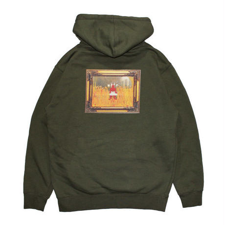 HELLRAZOR【 ヘルレイザー】x Shawn Powers Satan Pull Over Hoodie Army Green プルオーバー パーカー アーミーグリーン