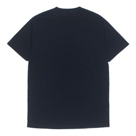 "HELLRAZOR【 ヘルレイザー】HELLRAZOR x LUI ARAKI PHOTO SHIRT ""SUBWAY"" NAVY Tシャツ ネイビー"
