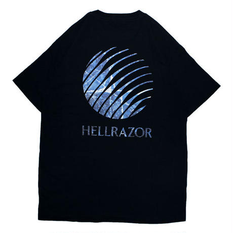 HELLRAZOR【 ヘルレイザー】INFERNO LOGO SHIRT NAVY  Tシャツ  ネイビー