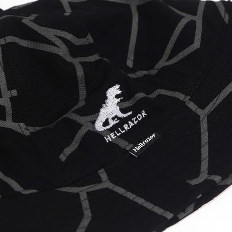 HELLRAZOR【 ヘルレイザー】DINO PIQUE BELL HAT BLACK ハット ブラック