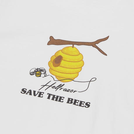HELLRAZOR【 ヘルレイザー】SAVE THE BEES SHIRT WHITE  Tシャツ ホワイト