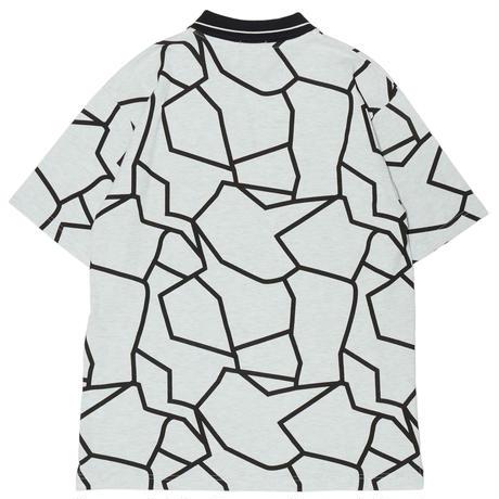HELLRAZOR【 ヘルレイザー】DINO PIQUE POLO SHIRT WHITE  ポロシャツ ホワイト