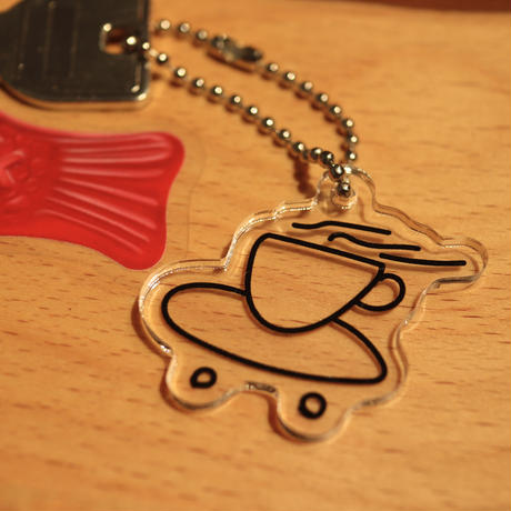 SPOT ITEM LUCKYWOOD【 ラッキーウッド】Coffskate KEY CHAIN キーホルダー