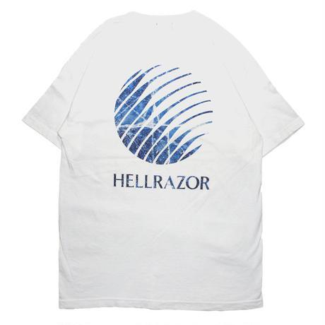 HELLRAZOR【 ヘルレイザー】INFERNO LOGO SHIRT WHITE  Tシャツ  ホワイト