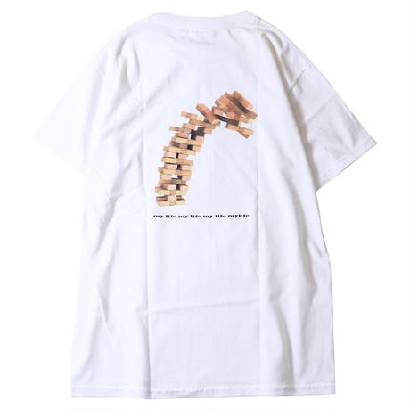 LUCKYWOOD【 ラッキーウッド】MY LIFE TEE WHITE Tシャツ ホワイト