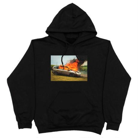 WKND【 ウィークエンド】 VAN ON FIRE-HOODIE パーカー ブラック
