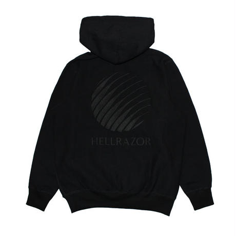 HELLRAZOR【 ヘルレイザー】EMBROIDERED LOGO HOODIE -  プルオーバー パーカーブラック