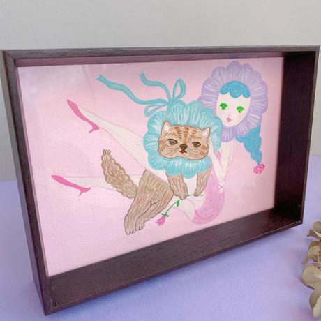 【eikobo】絵画「猫(大好きな気持ち)