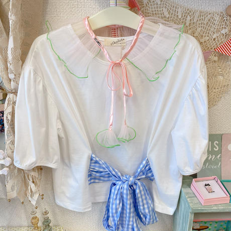 【●(hokuro)】DRESS/Pink×Green