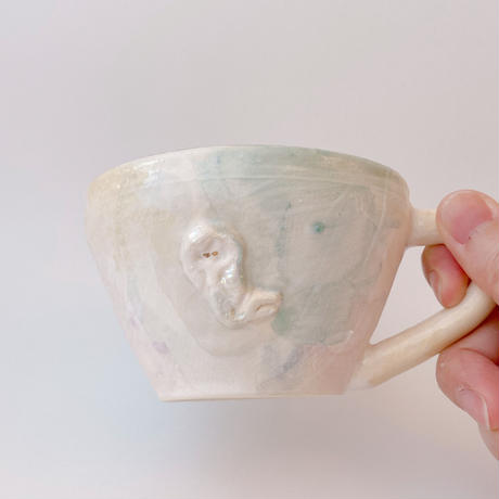 【KAZUYO NAKATANI】カラフル金彩マグカップ ・人魚A