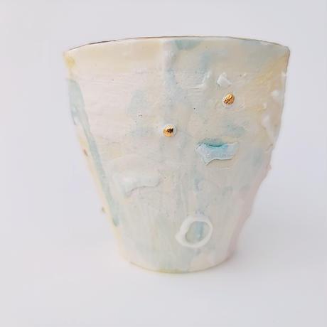 【KAZUYO NAKATANI】カラフル金彩カップ・イソギンチャク