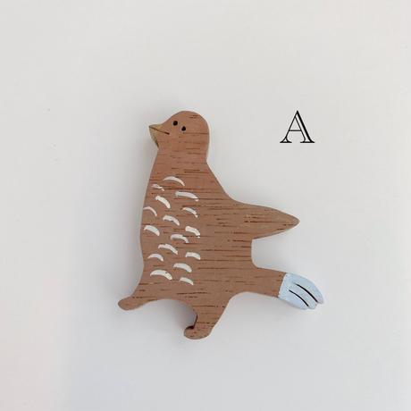 【iriki】magnet/茶色の鳥