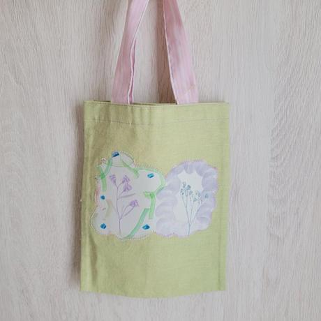 【小林ななこ】押し花プリントのバッグ・小