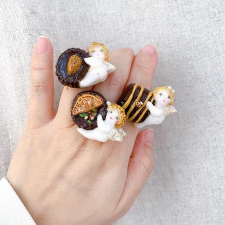 【ミッチのかけら】アーモンド付きチョコと天使リング