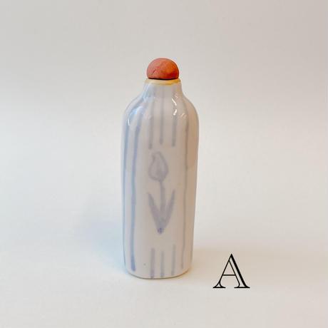 【小渕祥子】蓋付小瓶・チューリップ