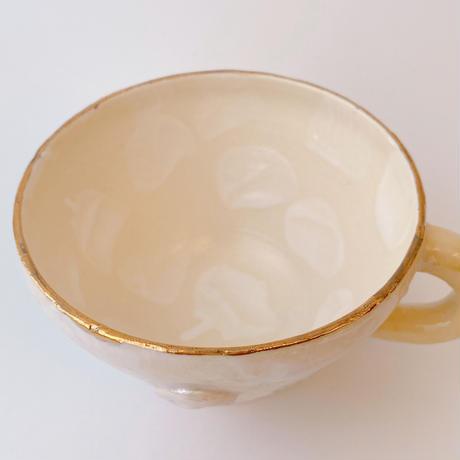 【KAZUYO NAKATANI】カラフル金彩マグカップ・人魚B