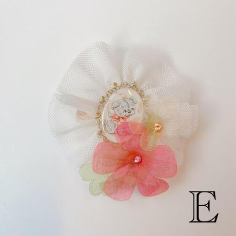 【GoldenBonbon】チュールブローチ・お花