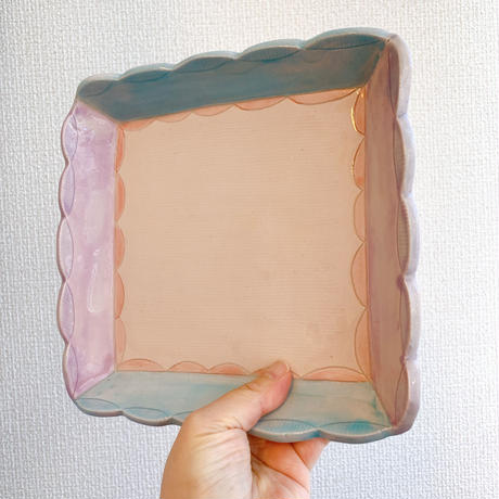 【森田みほ】四角鉢