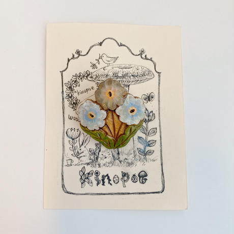 【kinopoe】 3輪花ブローチ