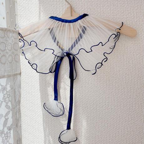 【●(hokuro)】DRESS/plain navy×white