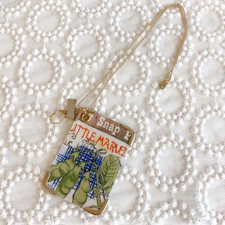 【pershfar】PVC vintage cardピアス&ネックレス/エンドウマメ