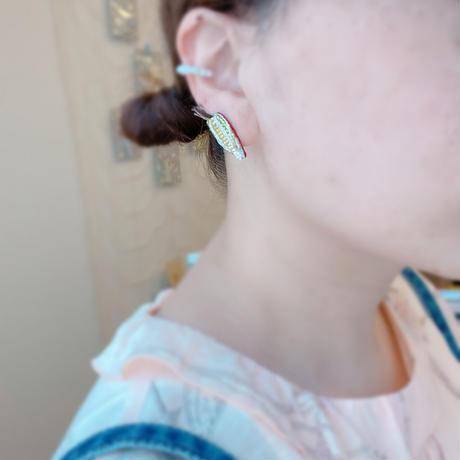 【Crepe.】とうもろこしイヤリング・右耳