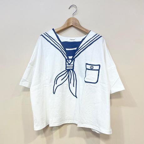 セーラーカラープリントTシャツ ホワイト
