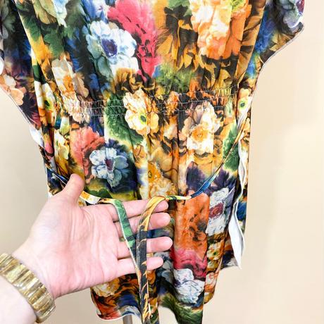 ルーシーズオリジナルワンピースDタイプ 大花グリーン系 スペシャルセール