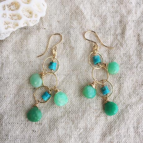 Chrysoprase & turquoise