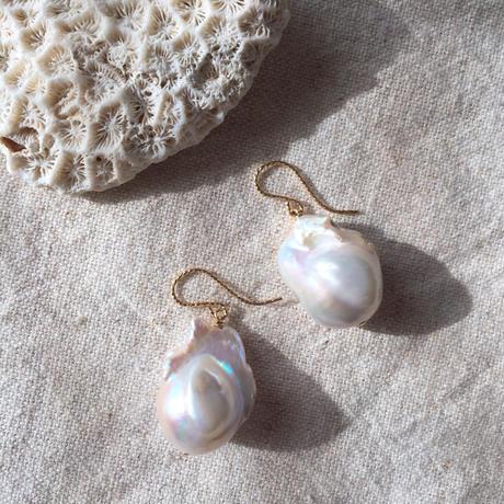 Baroque pearl pierced 1