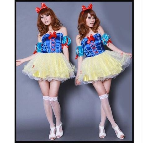 【フリーサイズ】フワフワチュール♡白雪姫 ハロウィンコスプレ