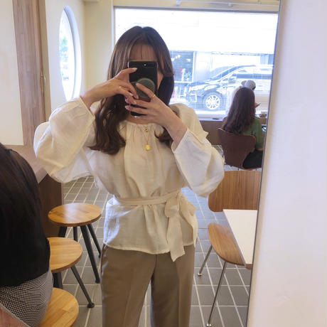 leah blouse / ivory