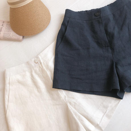 linen shortpants / 2color