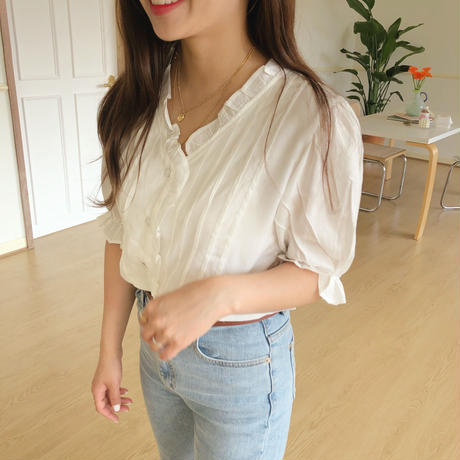 madeleine blouse/white