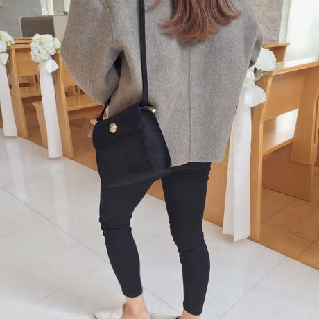 handmade short coat / gray
