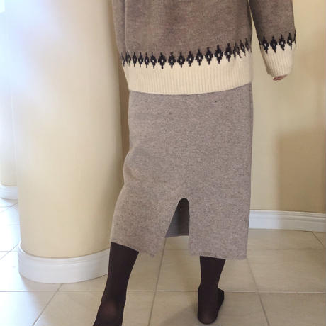 wool skirt / oatmeal