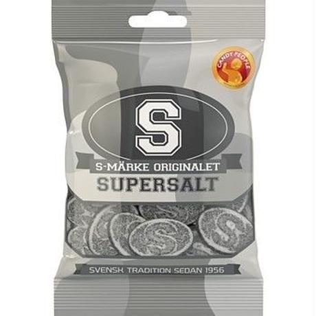 Malaco Gott&Blandat ゴット ブランダット グミ スーパーソルト味 130g×1袋セット スゥエーデンのお菓子です
