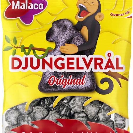 Malaco マラコ ジャングル塩味リコリス サルミアッキ 4袋 x 80g スウェーデンのお菓子です