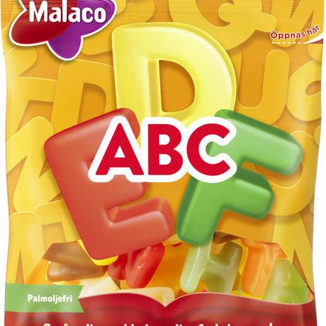 Malaco マラコ ABCフルーツ味ハードキャンディ 4袋 x 70g スウェーデンのお菓子です