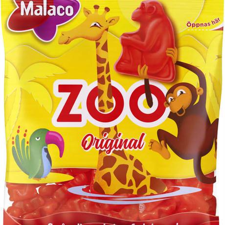 Malaco マラコ Zoo 動物園フルーツ味グミ2袋 x 80g スウェーデンのお菓子です