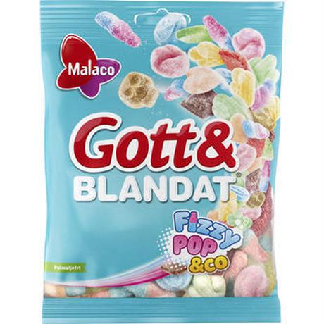 Malaco ゴットブランダット フィジー ポップ味 Gummy 130g x 6個セット フィンランドのお菓子です