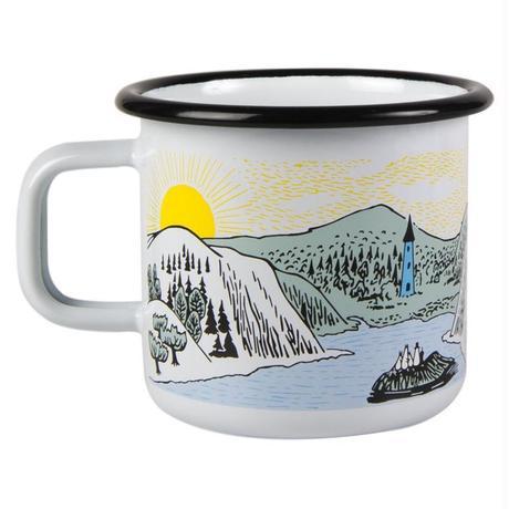 Muurla (ムールラ) ムーミン ホーロー マグカップ 穏やかな風 3,7DL